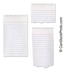 Ripped Paper Notepad Collection - Paper notepad collection...