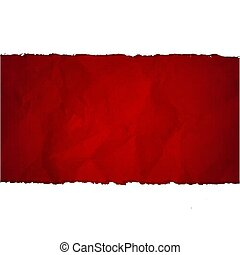 Ripped Paper Set With Red Cardboard Background
