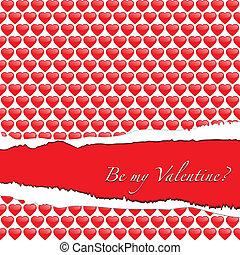 Ripped paper Valentine