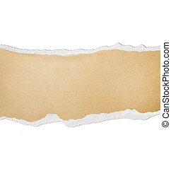 Ripped paper with free space for text