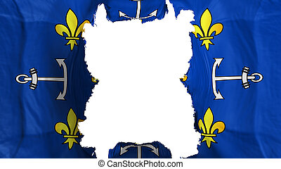 Ripped Port Louis city flying flag - Ripped Port Louis city...
