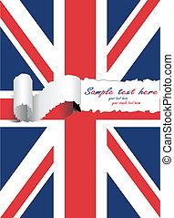 ripped usa united kingdom flag