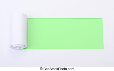 Ripped white paper with space for text
