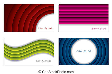 Ripple business vector set