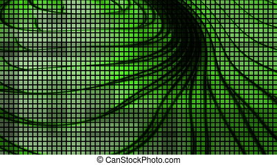 Ripple Green cutting squares VJ looping strobe animated background