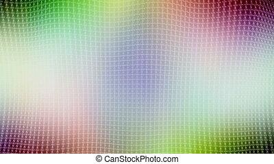 Ripple lattice multi color looping background - Animated...