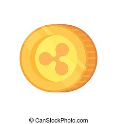 Ripple vector sign. Cryptocurrency with huge market capitalization. Based on blockchain technologie.