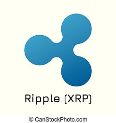 Ripple (XRP). Vector illustration crypto coin ico