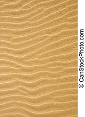 Detail view of rippled sand on the beach