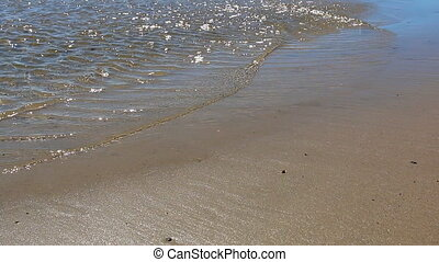 Rippled shallow water and beach