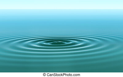 ripples in the water - concentric circles on a water smooth...