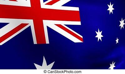 Rippling Australian Flag Loop