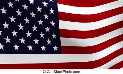 Rippling USA Flag Loop