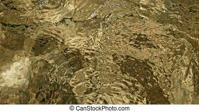 Rippling water in shallow pond - Rippling water in shallow...