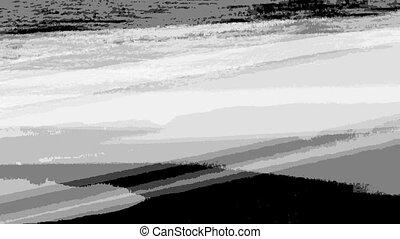 rippped, noir, lignes, 3, blanc