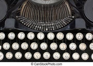 riprese ravvicinate, macchina scrivere