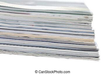 riprese ravvicinate, pubblicazione periodica, pila, colorito