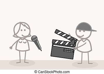 riprese, video, prendere