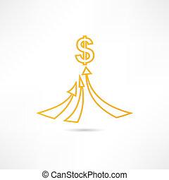 riqueza, icono