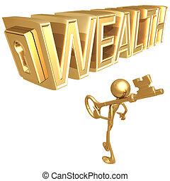 riqueza, tecla