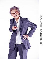 rir, mulher velha