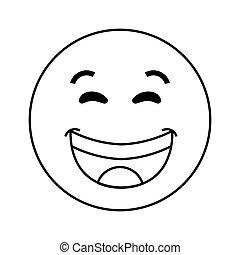 rire, icône, emoticon