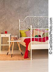 riscaldare, disegno, camera letto
