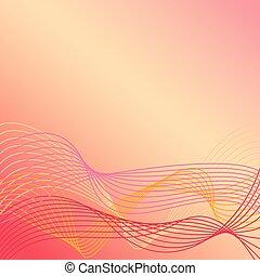 riscaldare, linee, 1, colori, ondulato, fondo