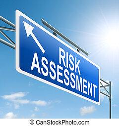 rischiare valutazione, concept.