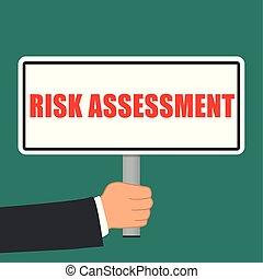 rischiare valutazione, segno, appartamento, concetto
