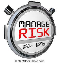 rischio, amministrare, timer, cronometro, ora, velocità