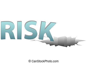 rischio finanziario, pericoloso, cadute, uninsured, buco