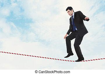 rischio, in, affari