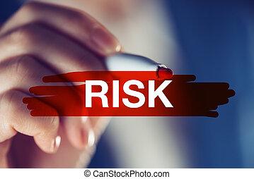 rischio, in, concetto affari