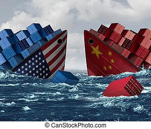 risco, guerra, estados unidos, comércio, china