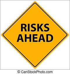 riscos, à frente, vetorial