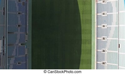 Rise drone of empty stadium Algarve. View from the sky.