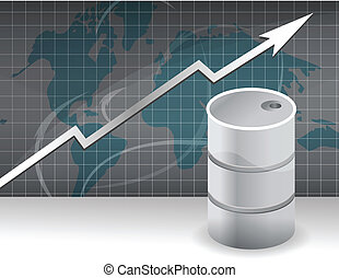 rise in prices for oil - The image of the schedule of a rise...