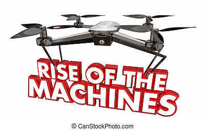 Rise of the Machines Drone AI Uprising 3d Illustration