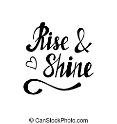 rise shine lettering