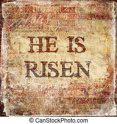 """risen"""", hij"""