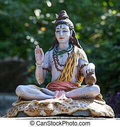 rishikesh, shiva, indien, statue