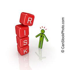 risiko, concept.