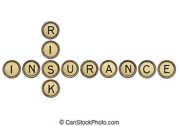 risiko, og, forsikring, krydsord