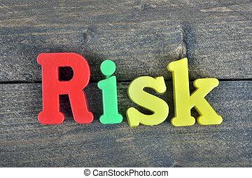 risiko, på, træagtig tabel