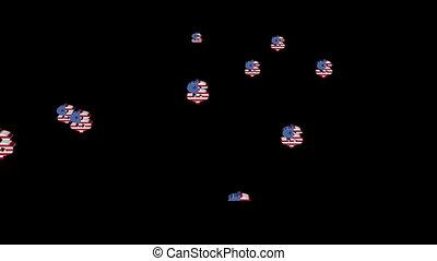 Rising American dollar animation