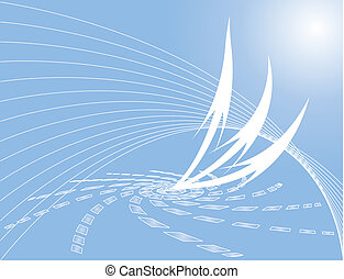 Rising arrow - raster file of a abstract background with...