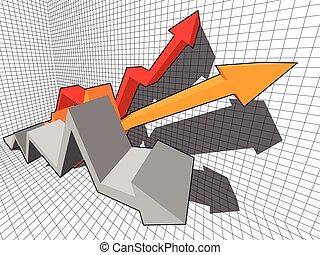 rising Arrows in business diagram