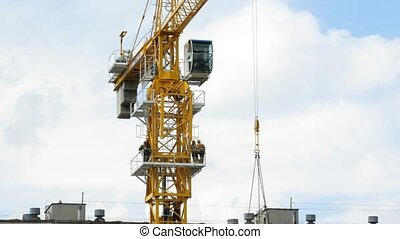 Rising Building crane construction