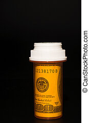 Rising Cost Of Medicine - The concept of sharply rising...